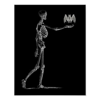 Het Poster van het skelet en van de Knuppel