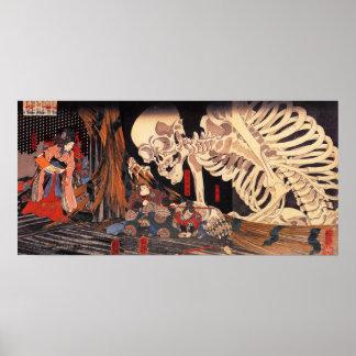 Het Poster van het Skelet van Kuniyoshi