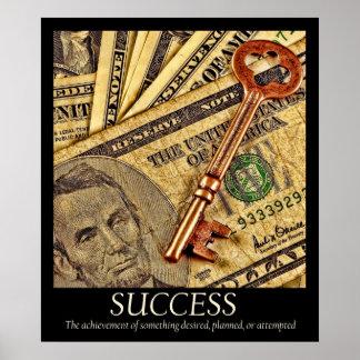 Het Poster van het succes