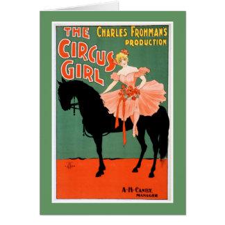 Het poster van het Theater van het Meisje van het Kaart