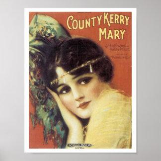 Het poster van Kerry Mary van de provincie