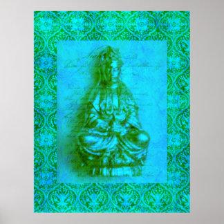 Het poster van Kwan Yin van de jade