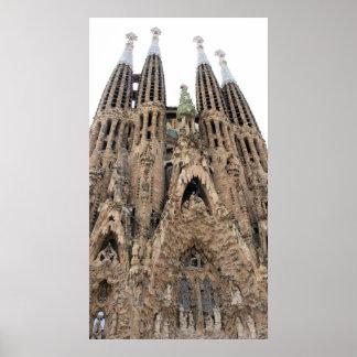 Het Poster van La Sagrada Familia