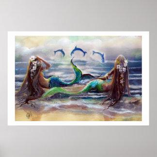 Het Poster van meerminnen en van Dolfijnen 2013