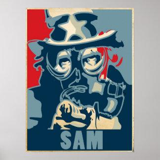 Het Poster van oom Sam Gasmasker