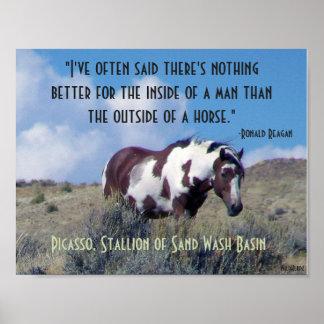 Het Poster van Picasso met citaat Reagan