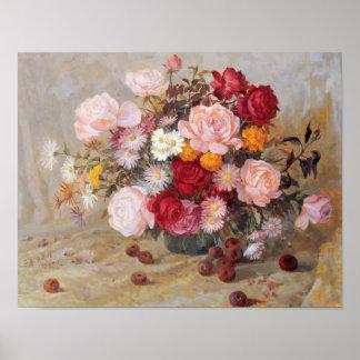 Het Poster van rozen en van Madeliefjes