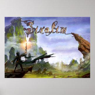 Het Poster van Siralim (het Scherm van de Titel)