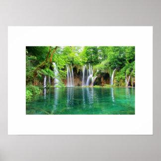 Het Poster van watervallen