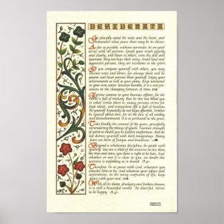 Het Poster van WENSEN door de Maximum Kalligrafie