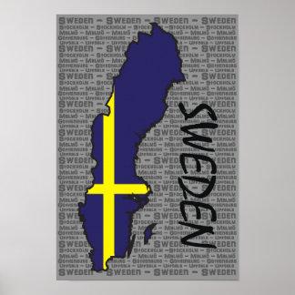 Het Poster van Zweden