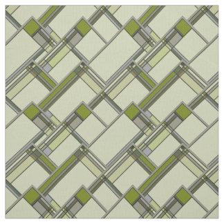 Het prachtige Groene Geometrische Patroon van Stof
