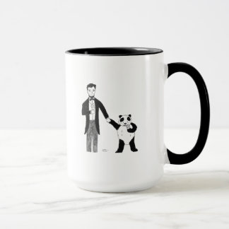 Het president Lincoln en een Panda genieten van Mok