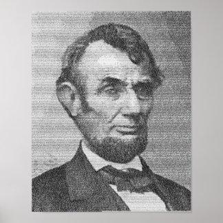 Het president Lincoln geeft Adres w/the terug Gett Poster