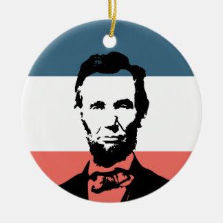 Het President van Abraham Lincoln zestiende Rond Keramisch Ornament