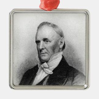 Het President van James Buchanan vijftiende Zilverkleurig Vierkant Ornament