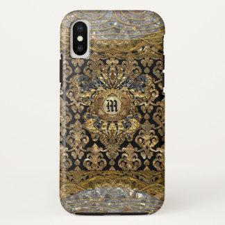 Het Pretty Barokke Monogram van le Shantesa iPhone X Hoesje