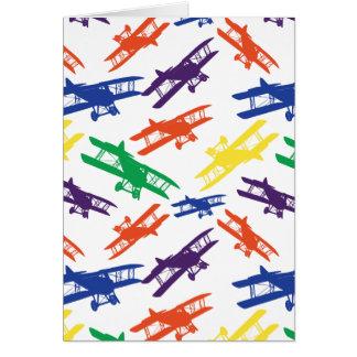 Het primaire Patroon van het Vliegtuig van de Briefkaarten 0
