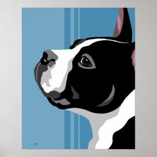 Het Print van Boston Terrier