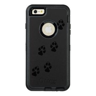 Het print van de poot van een hond OtterBox defender iPhone hoesje
