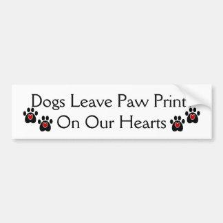 Het Print van de Poot van het Verlof van honden op Bumpersticker
