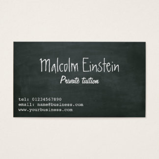 Het privé manuscript van het privé-leraarbord visitekaartjes