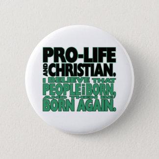 """Het """"pro-leven en Christelijke"""" Knoop Ronde Button 5,7 Cm"""