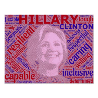 Het pro Poster van de Steun van Hillary Clinton