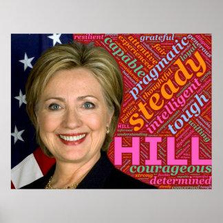 Het pro Poster van Hillary Clinton