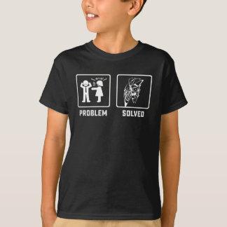 Het probleem loste koel man met peddel het t shirt