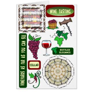 Het proeven van de wijn briefkaarten 0