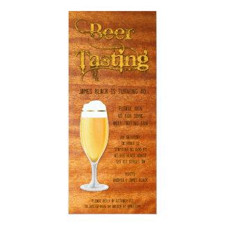 Het Proeven van het bier de Uitnodiging van de