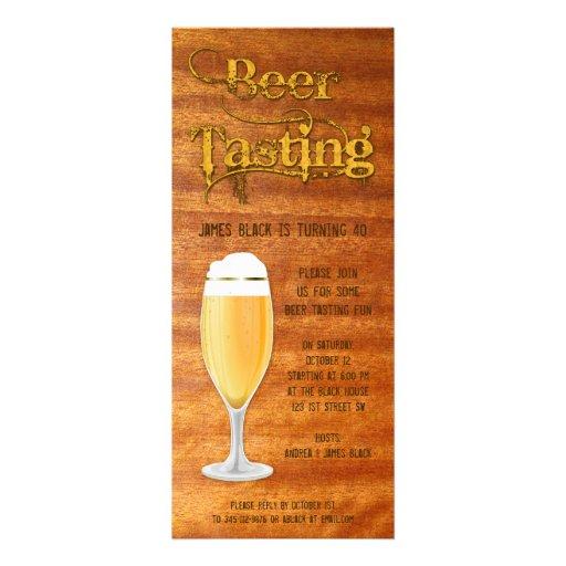 Het Proeven van het bier de Uitnodiging van de Par