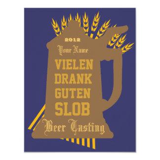 Het Proeven van het bier Uitnodiging