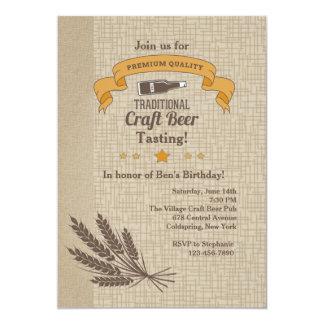 Het Proeven van het Bier van de ambacht 12,7x17,8 Uitnodiging Kaart