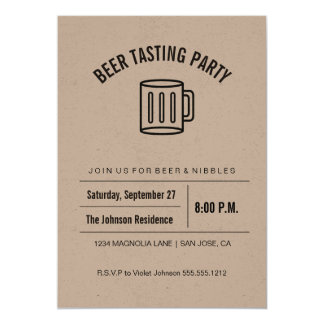 Het Proeven van het Bier van het Collectie van 12,7x17,8 Uitnodiging Kaart