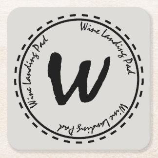 Het Proevende Landende Stootkussen van de wijn Vierkante Onderzetter