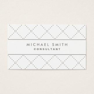 Het professionele Elegante Wit van de Mode Visitekaartjes