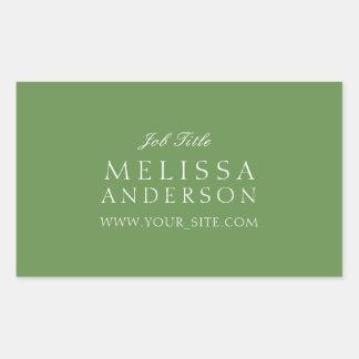 Het professionele Groene Mos van de Typografie Rechthoekige Stickers