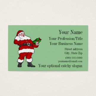 Het professionele Visitekaartje van de Kerstman Visitekaartjes