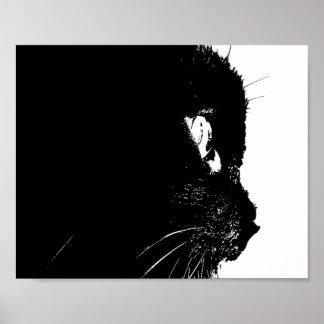 Het Profiel van de kat Poster