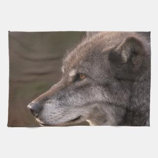 Het Profiel van de wolf Theedoek