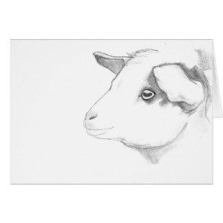Het profielwenskaart van de geit door Nicole Janes Kaart
