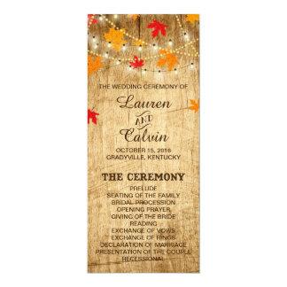 Het Programma van de Ceremonie van het Huwelijk 10,2x23,5 Uitnodiging Kaart