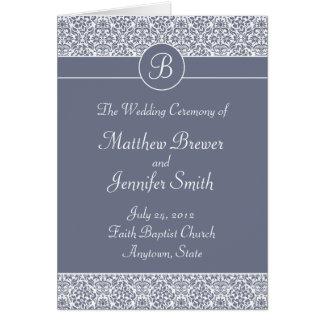 Het Programma van de Ceremonie van het huwelijk en