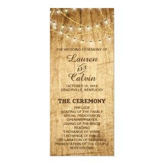 Het Programma van de ceremonie voor landhuwelijk 10,2x23,5 Uitnodiging Kaart