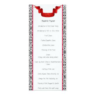 Het Programma van de Ontvangst van het Huwelijk 10,2x23,5 Uitnodiging Kaart