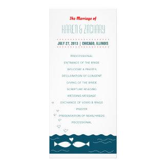 Het Programma van het huwelijk 10,2x 22,9 Cm Reclamekaart