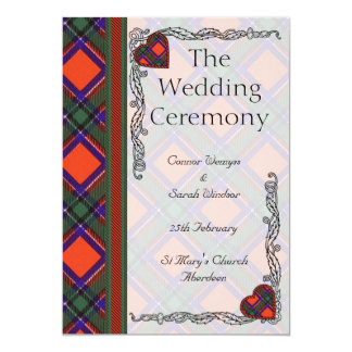 Het programma van het huwelijk - het Schotse 12,7x17,8 Uitnodiging Kaart