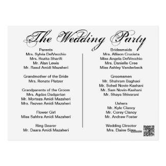 Het Programma van het huwelijk, pagina 1 van 2. Briefkaart